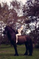Anyssa and the Friesian by Anyssa