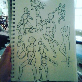 Fun with Figure Drawings by RosyKiya2