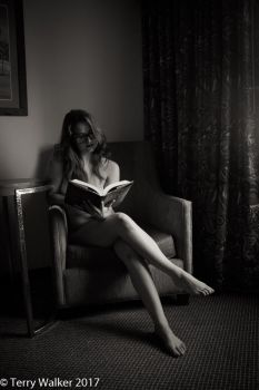 Reading a book by Frisson-Art