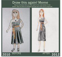 Dress Draw This Again Meme by jourple