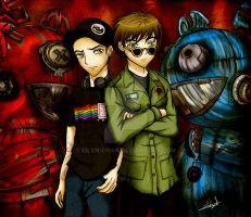 Deadmau5 vs Gerard Way II by Eilyn-Chan