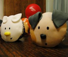 Fundraising: Puppy and Kitty Cupcakes by cakecrumbs