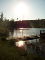 Camp Bell Lake South Side by icrybehindsunglasses