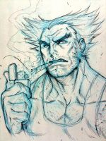 Wolverine - Headsketch by alvinlee