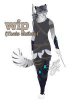 wip- Thais anthro by Sara-A2