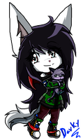 ...:::Dark and kitten Chibis::...done in Paint by gisselle50
