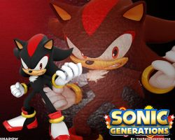 Shadow the Hedgehog Wallpaper by TheReturnedSpriter