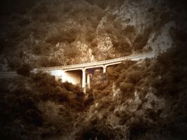 Bridge over Canyon by mistakeablyme