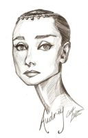 Audrey Portrait by Muirin007