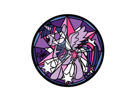 Princess Twilight Design for Stained Glass by DevicTemple