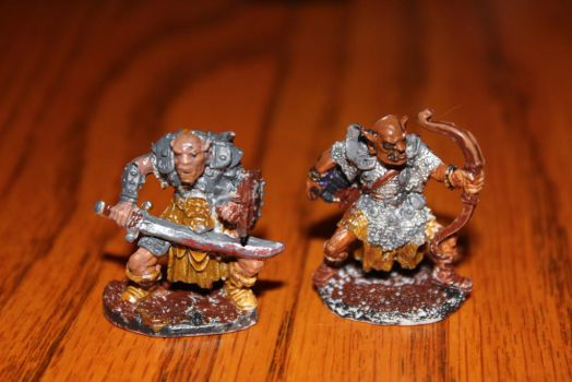 My first two miniatures. by Timminz