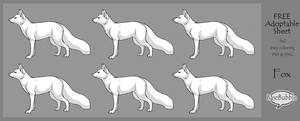 .: Fox FREE Adoptable Sheet : PSD + PNG :. by BaseBubble