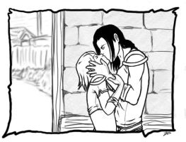 Dragon Age - Kiss by maicakes