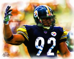 James Harrison #92 Painting by photoman356