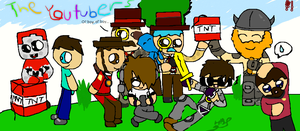 Team Minecraft Youtubers by Xinaug