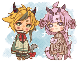 my kawaii chimera bbies by kiimcakes