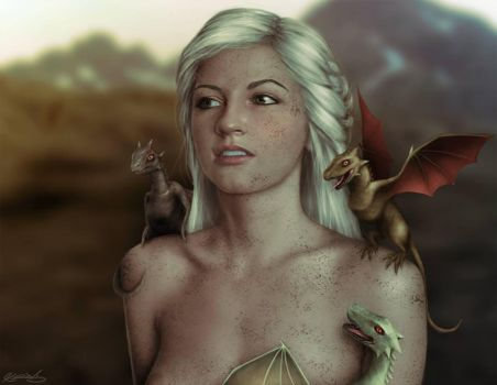 Me as Deanarys Targaryn (A.K.A the Khaleesi) by alexchristine