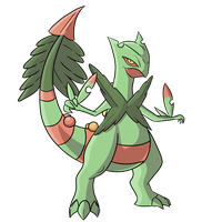 Official Mega Sceptile by SuccessfulDropOut