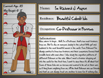 Character Sheet: Professor Richard Aspen by AquaQueen27