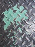 Peeling Paint on Diamond Plate by element321