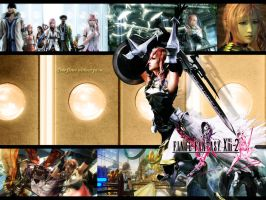[Final Fantasy XIII-2] Lightning Wallpaper by yoanribeiro