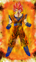 Super Saiyan God Goku Power Up by EliteSaiyanWarrior