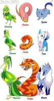 5th Gen Starters by BubbleLum