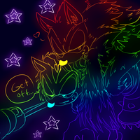 colorful werehog and shadow by zeldaprincessgirl100