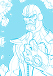Thanos Infinity Gauntlet by illustrationoverdose