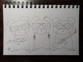 Sketch Dailies: Three Blind Mice by bunnykissd