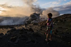 Yasur Volcano Girl 2 by little-spacey