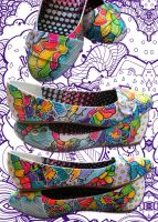 Music Rainbow Candy Storm Shoe by marywinkler