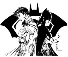 Superman/Batman (Brett Booth Inks) by SupermanOfToday