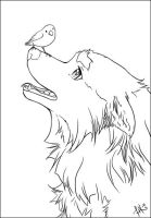 Spring Coming -lineart (free to use)- by henu