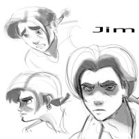 jim Hawkins face sketches. by Gman20999