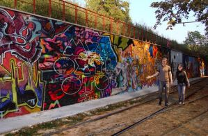Coldplay Mylo Xyloto Mural Painting by Exeyber