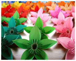Origami Flowers for Karina by wastedlimes