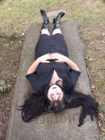 On the grave 1 by HauntingVisionsStock
