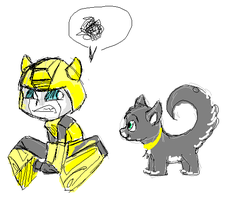Bumblebee kitten by Ayashe