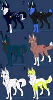 Wolf Adoption Sheet 2*OPEN* by NewMoon-Dragoness