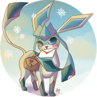 February :  Glaceon by merrinou