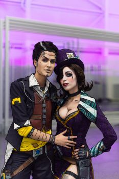Handsome Jack and Moxxi by DariaRooz