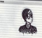 Death the kid, in ONLY pen- Soul Eater by buttercups7273