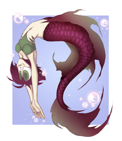 Huispe Mermaid- Commission Part 2 by Sketched-UP