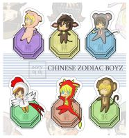 Chinese Zodiac BOYZ by xcry