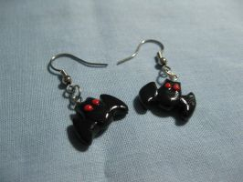 Bat Earrings by kitcat4056