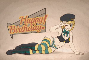 Birthday Pinup by Seaworm