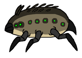 Invertebrates of Arukadia- Woodland Dirtcrawler by FeralStormRaptor