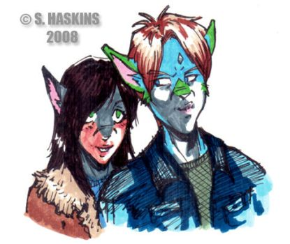 Adam and Shannon COLOR MARKER by kurotenshi7