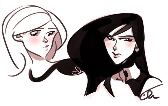 kim and shego by batlesbo